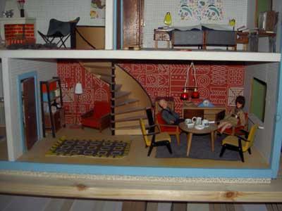 Dockhus vardagsrum