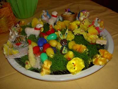 Kycklingar i gras