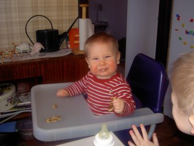 Klara äter plättar
